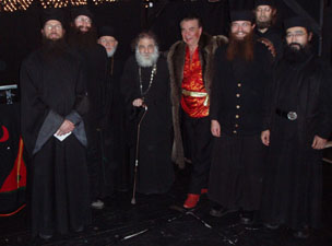 Nikolai Massenkoff with Monks of St. John of Shanghai Monastery